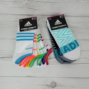 Adidas Womens sz 5-10 No Show Socks (867)